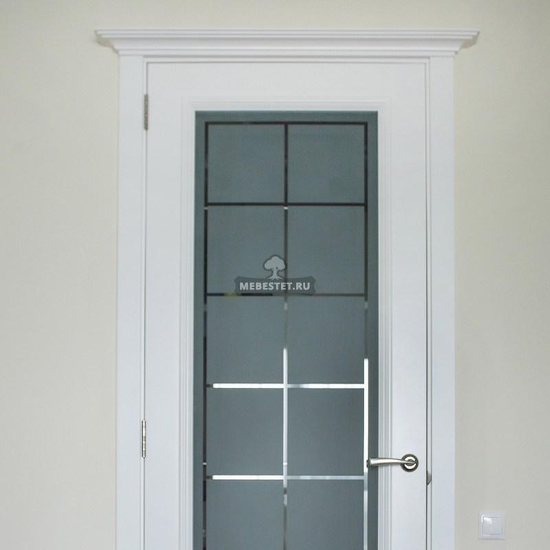 Пескоструйный рисунок на двери