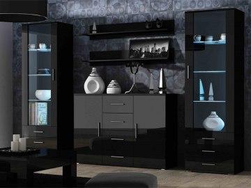 Black gloss living room furniture uk