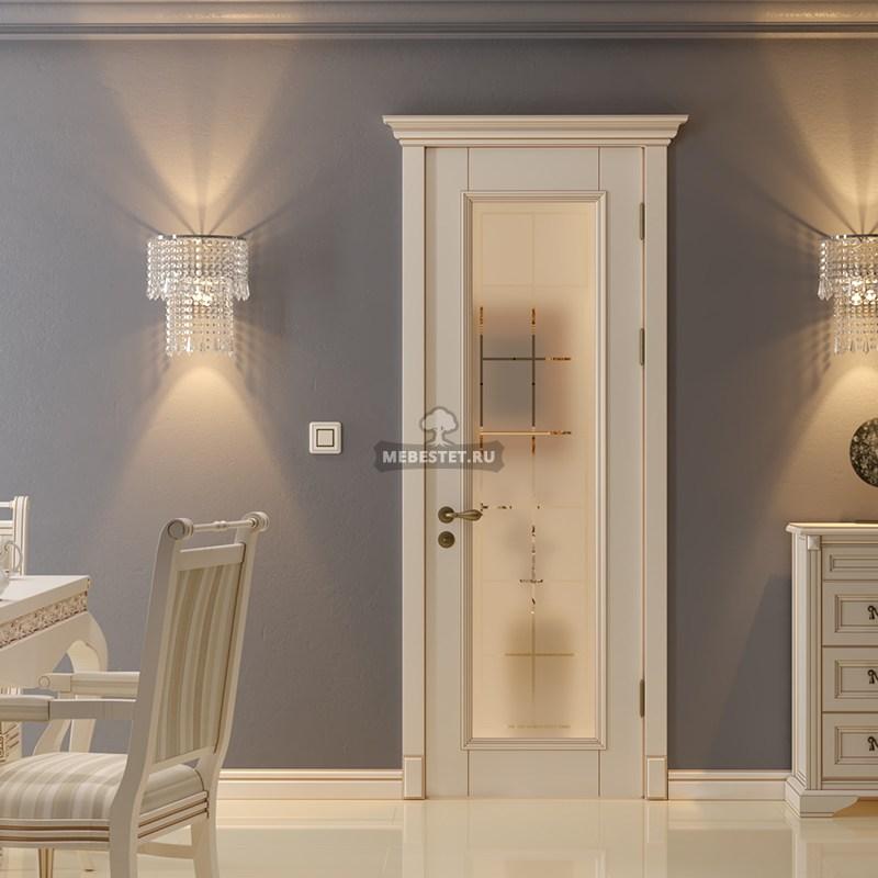 Межкомнатная дверь с вставкой стекла