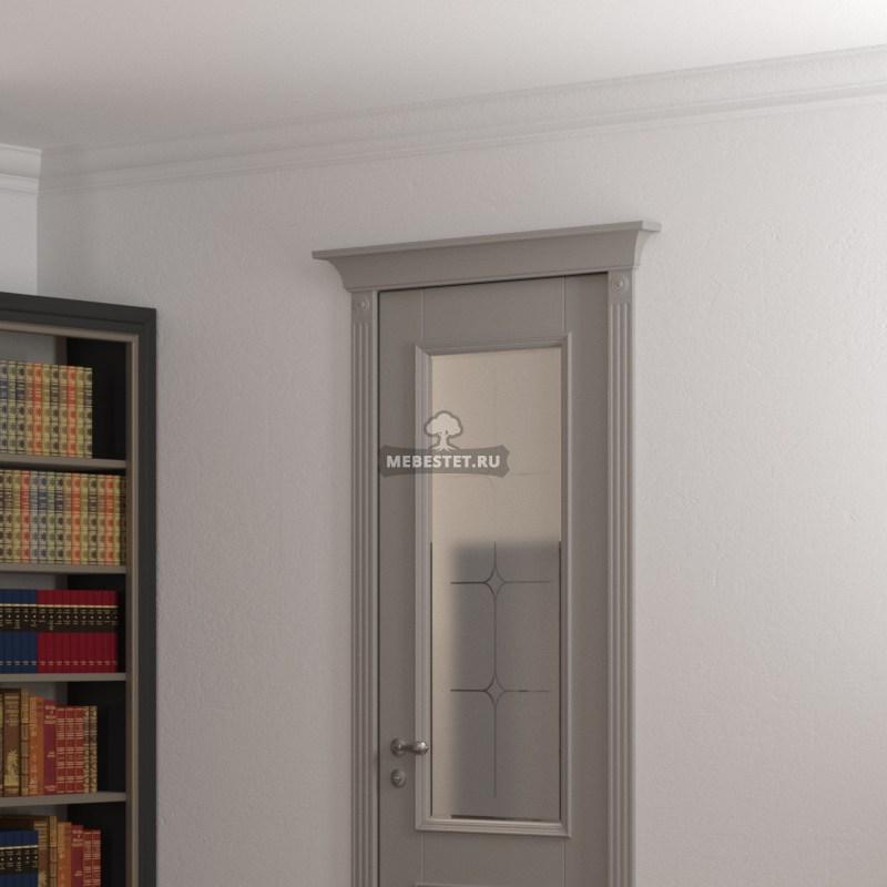 Дверь со стеклом из МДФ