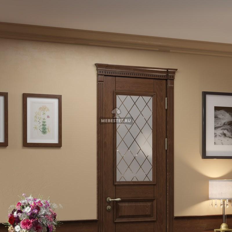 Дверь межкомнатная со стеклянными вставками