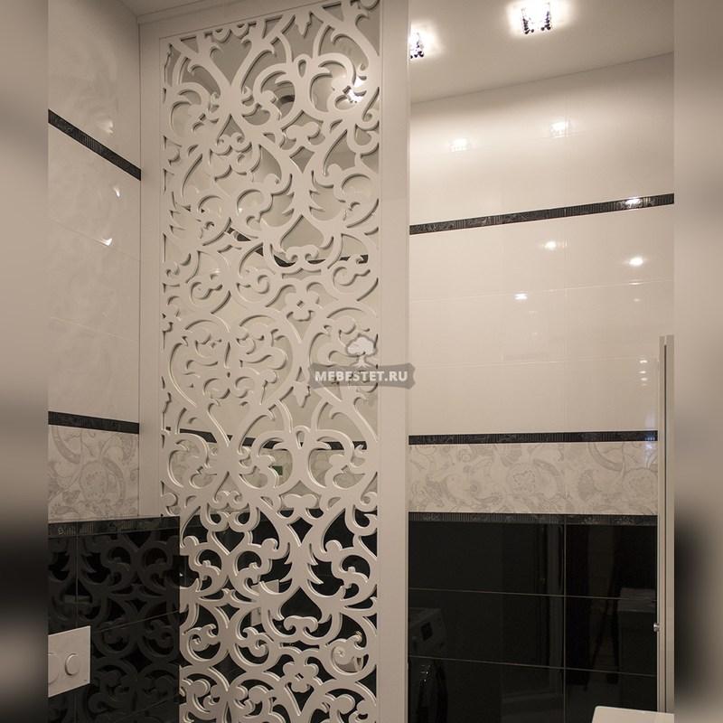 Зеркальная перегородка в ванную