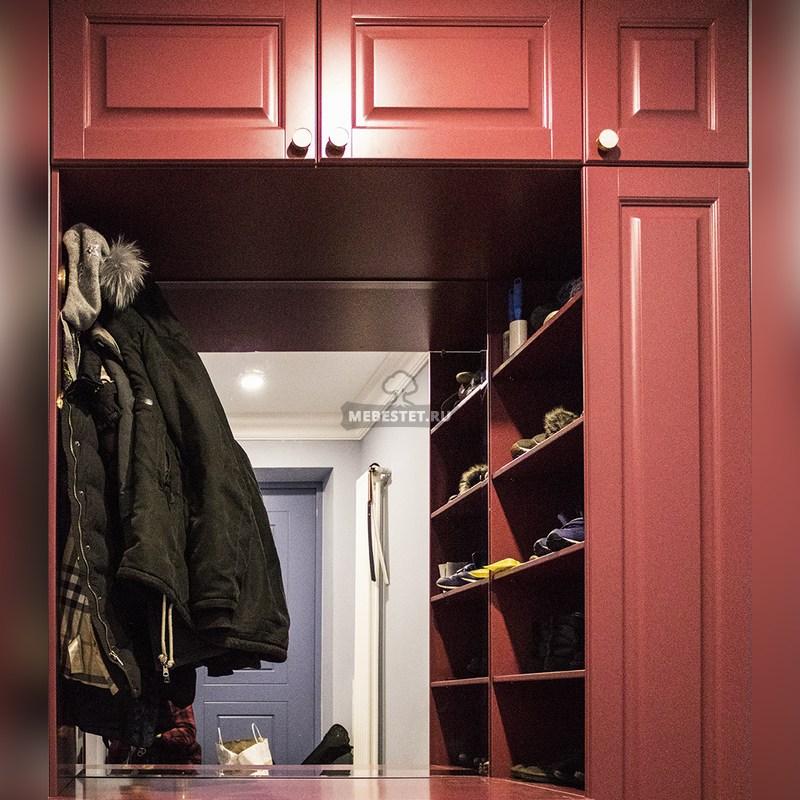 Шкаф-обувница с зеркалом