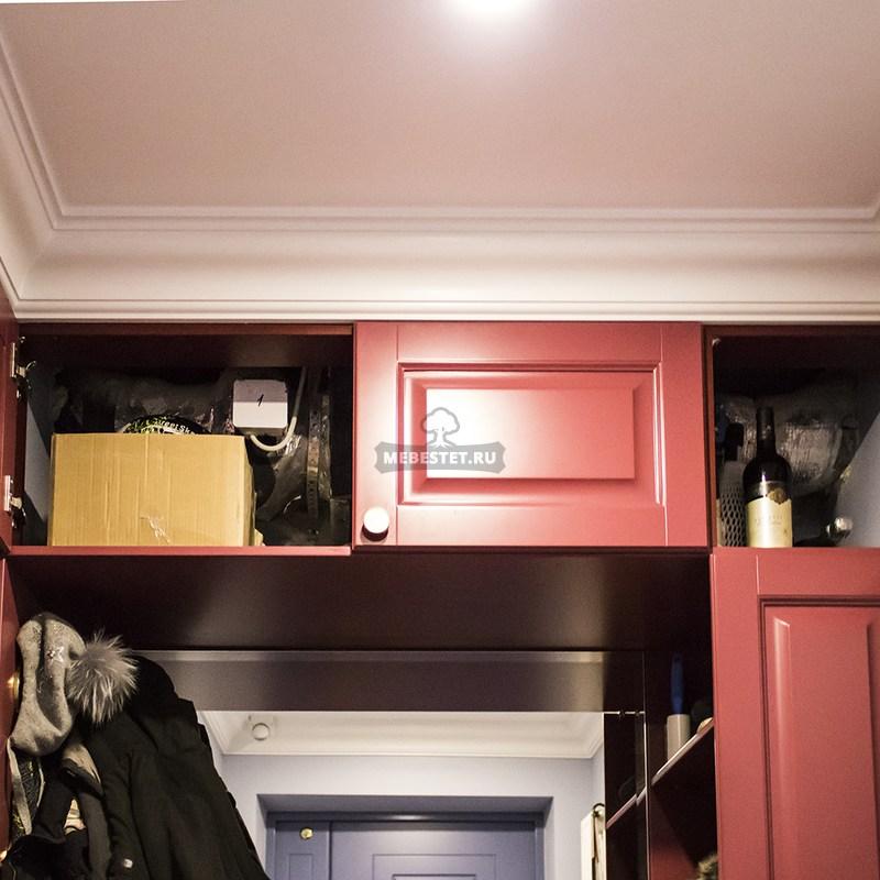 Внутреннее наполнение шкафа-обувницы вид сверху