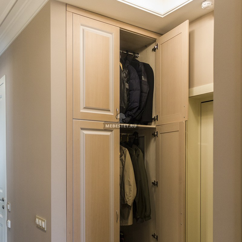 Встроенный шкаф из МДФ шпон бука