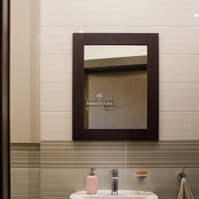 Зеркало в ванную шпон