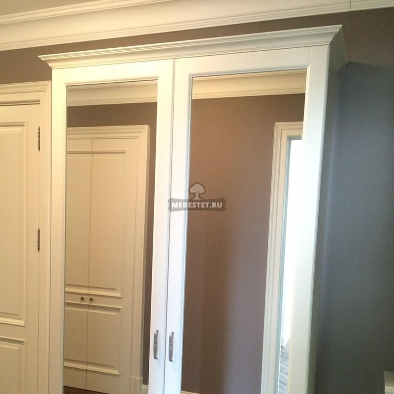 Двери шкафа зеркальные распашные