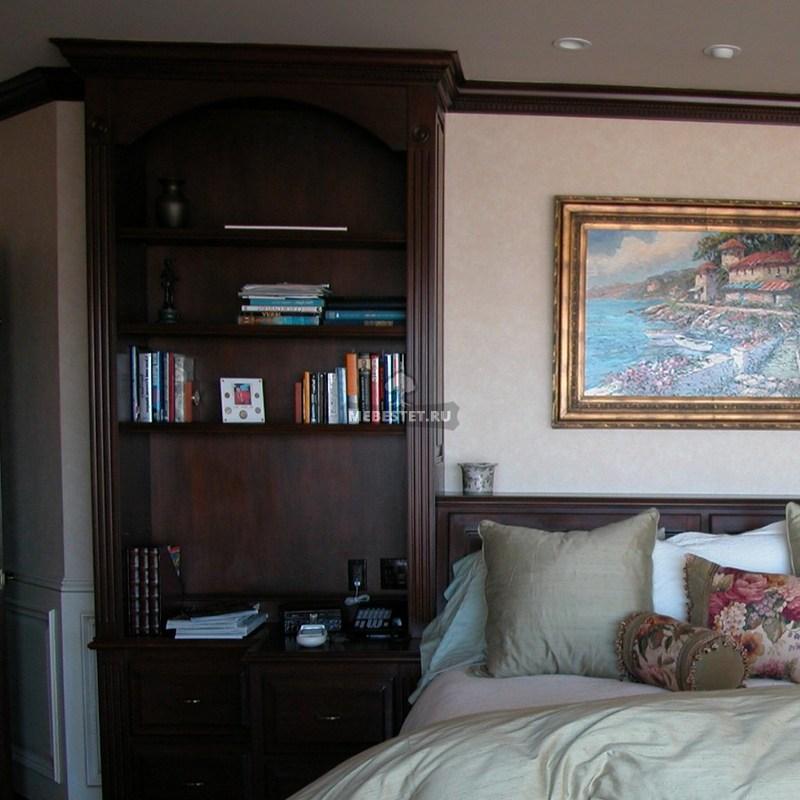Шкаф около кровати – декоративная состаляющая