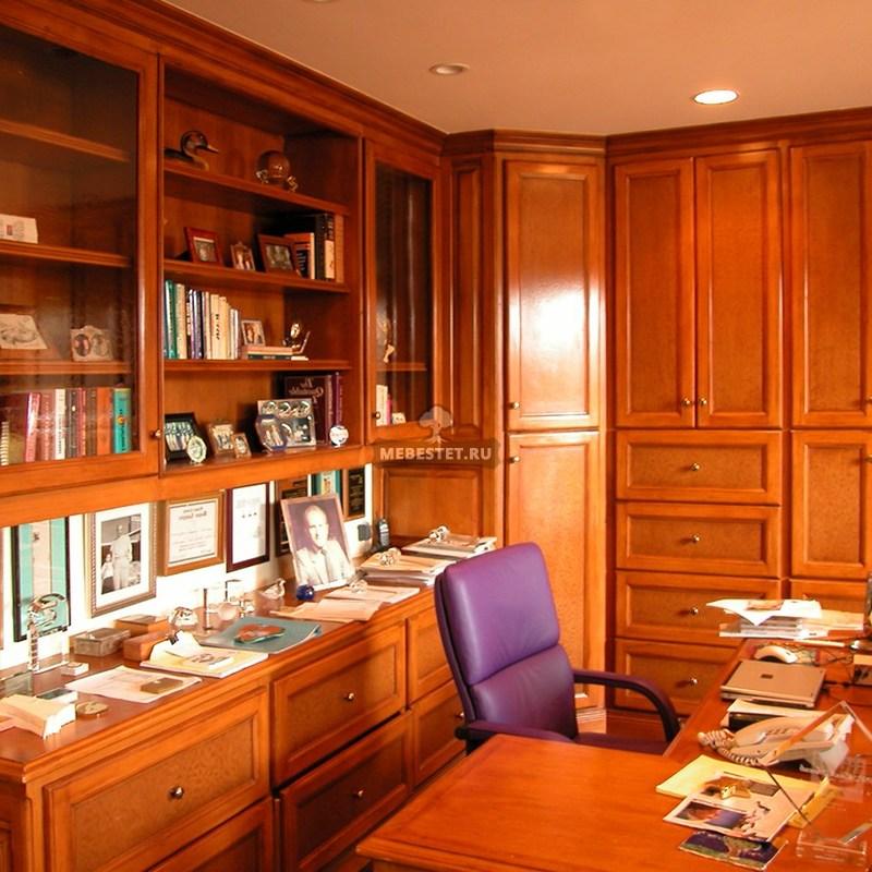 Кабинет и библиотека из массива бука
