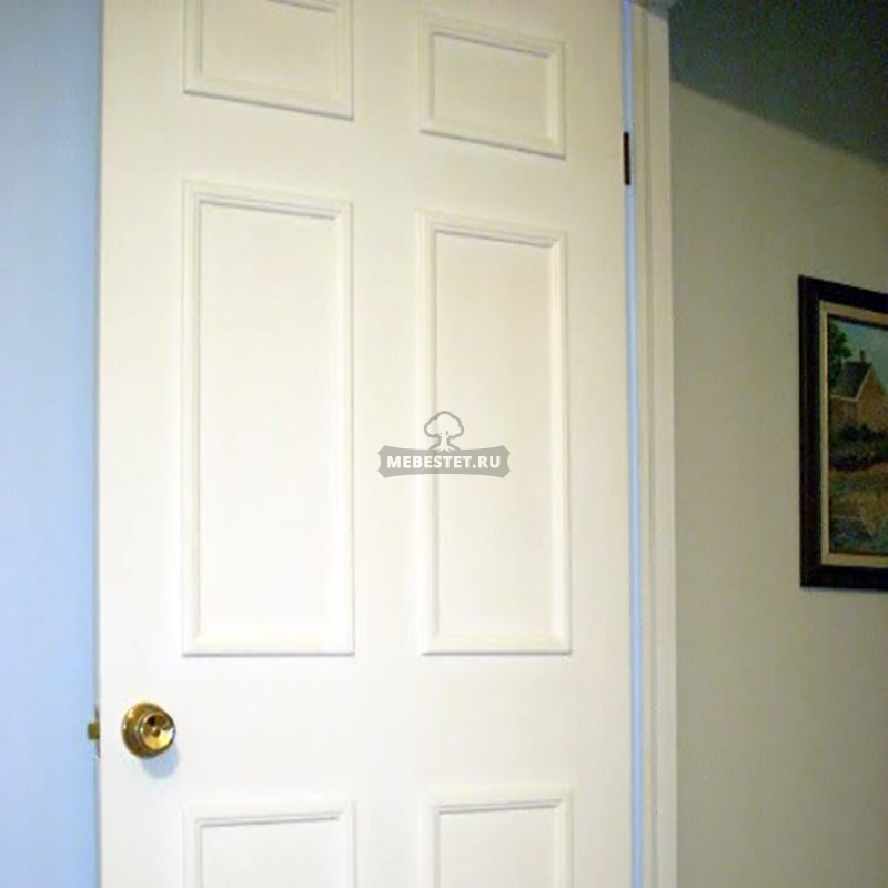 белая межкомнатная дверь из мдф