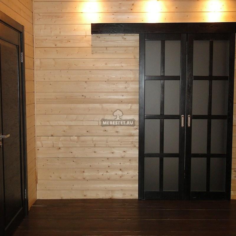 Раздвижная межкомнатная дверь из массива дуба